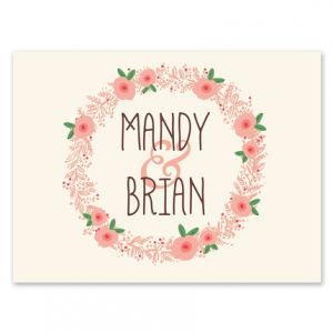 Floral Wreath Note Card