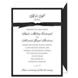 Black Border Invitation