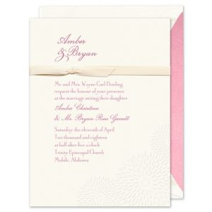 Embossed Dahlias Invitation