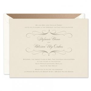 Pearlized Invitation