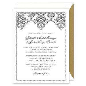 Lace Scroll Invitation