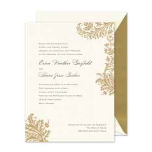 Festive Paisley Invitation