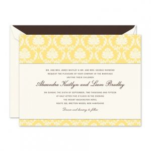 Buttercup Damask Invitation