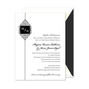 Duogram Scroll Invitation