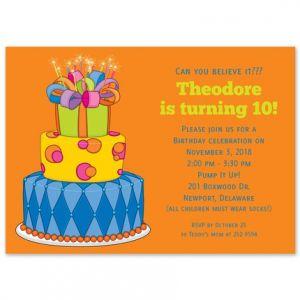 Birthday Cake Invitation