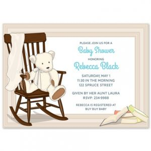 Rocking Bear Invitation