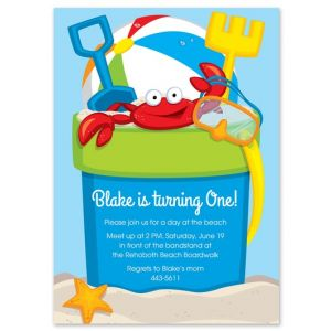 Beach Bucket Invitation