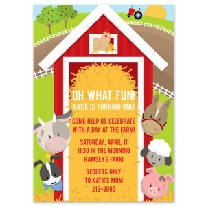 Around the Barn Invitation