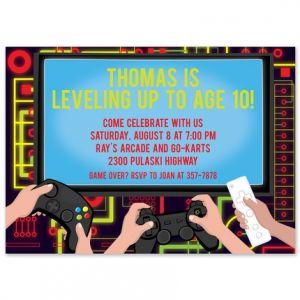 Video Game Invitation