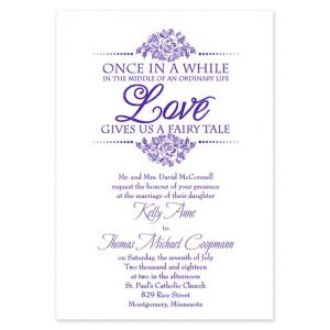 Fairy Tale Dream Invitation