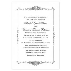 Border Scrollwork Invitation