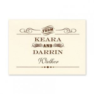 Vintage Charm Note Card