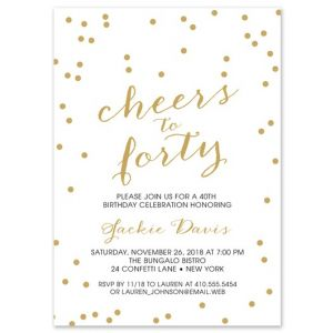 Cheers to Forty Invitation