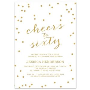 Cheers to Sixty Invitation