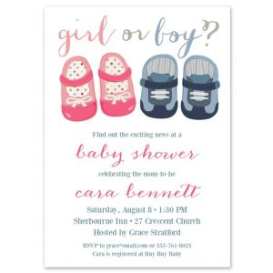 Girl or Boy Shoes Invitation
