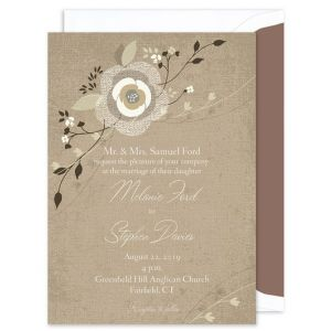 Rustic Bloom Invitation