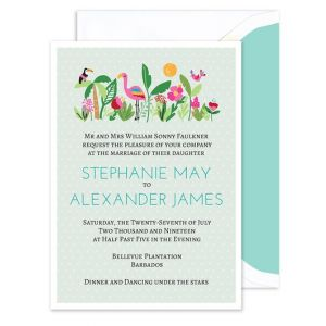 Tropical Birds Invitation