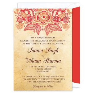 Henna Invitation