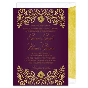 Indian Gold Invitation