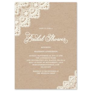 Romantic Lace Invitation