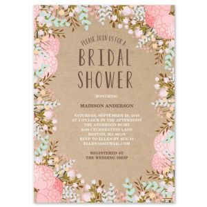 Rustic Flowers Invitation