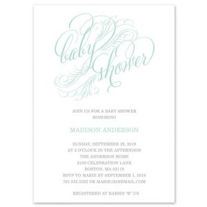 Blue Feathers Invitation