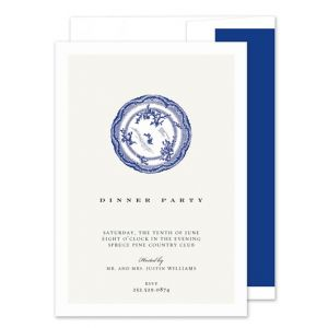 Blue Plate Invitation