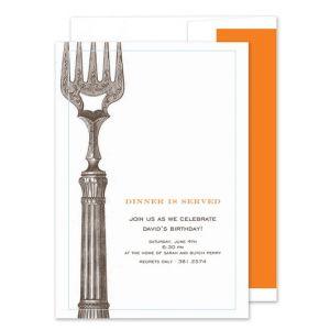 Classic Fork Invitation
