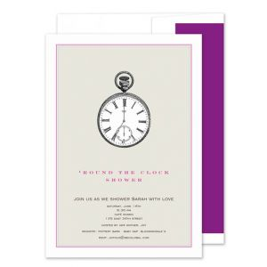 Pocket Watch Invitation
