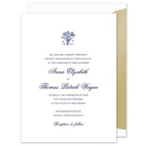Bouquet Monogram Invitation