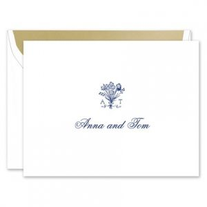 Bouquet Monogram Note Card