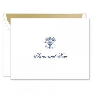 Bouquet Monogram Note Card