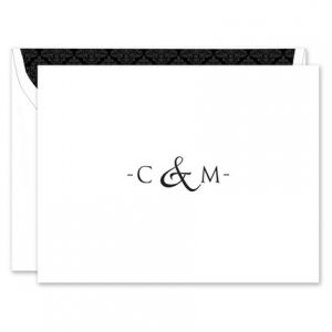 Ampersand Note Card