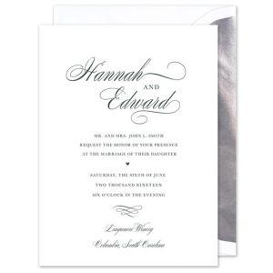 Splendid White Invitation