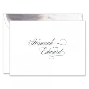 Splendid White Note Card