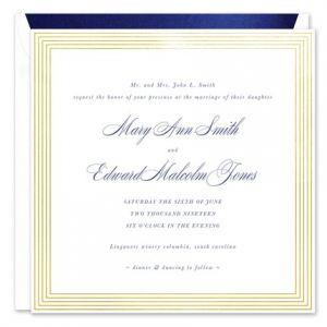 Foil Framed Invitation