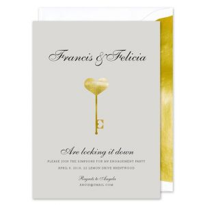 Foil Deco Key Invitation