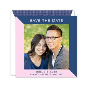 Pink & Lapis Photo Card
