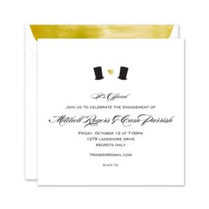 Top Hat Love Invitation