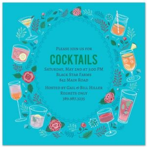 Cocktail Wreath Invitation