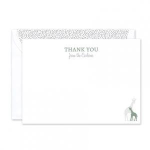 Baby Giraffe Flat Card