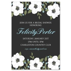 Floral Bride Invitation