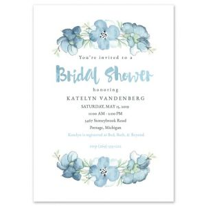 Blue Florals Invitation