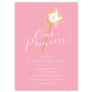 Princess Wand Invitation