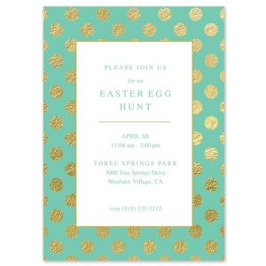 Faux Gold Dot Invitation