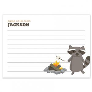S'mores Raccoon Flat Card