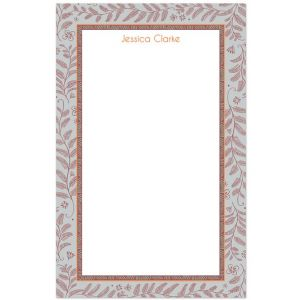 Floral Border Note Pad