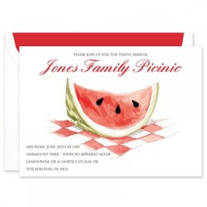 Watermelon Slice Invitation
