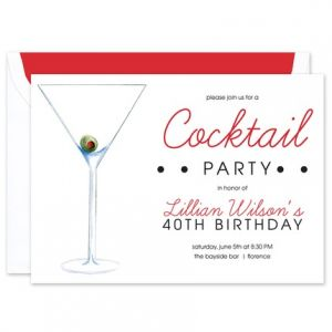 Olive Martini  Invitation
