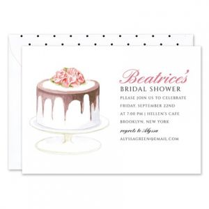 Decadent Cake Invitation